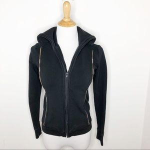 Burberry London Classic Black Zip Up Jacket